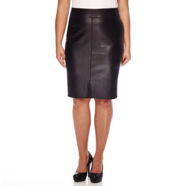 jcpenney.com | Bisou Bisou® Pleather Skirt - Plus