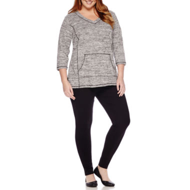 jcpenney.com | Liz Claiborne® 3/4-Sleeve Pullover or Secretly Slender Skinny Knit Leggings - Plus