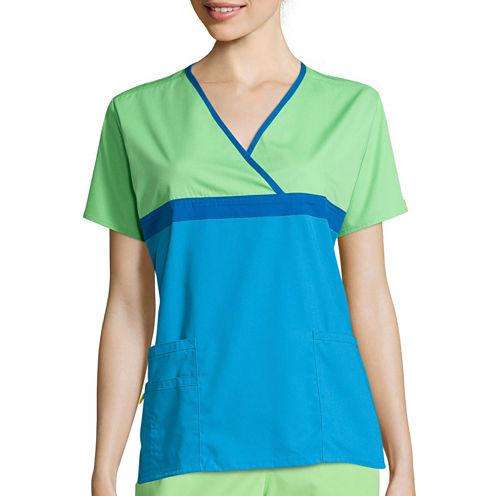 WonderWink® Origins Womens Short-Sleeve Tri-Charlie Top - Plus