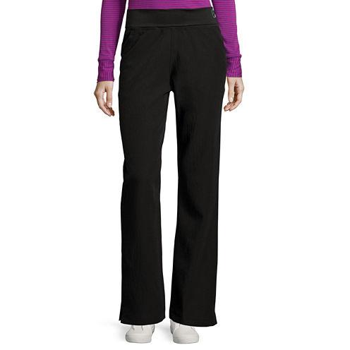 Wonderwink® Four-Stretch Womens Fold-Over Waist Pants