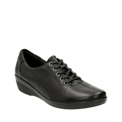 Clarks Everlay Elma Leather Lace Up Womens Oxfords JCPenney c35919272