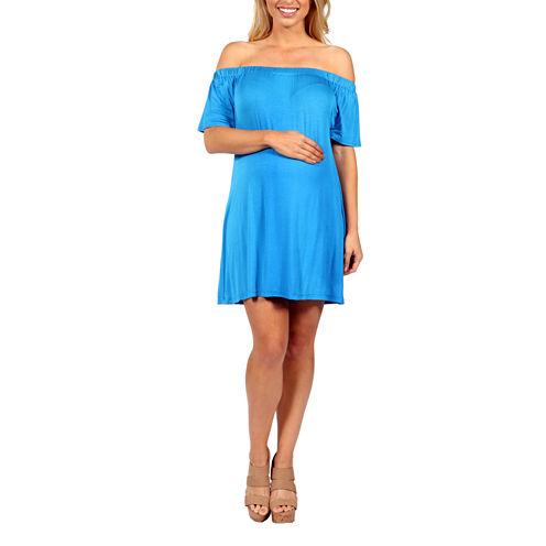 24/7 Comfort Apparel Al Fresco Shift Dress-Maternity