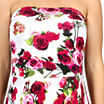 24/7 Comfort Apparel Sweet Climbing Rose Empire Waist Dress-Plus Maternity