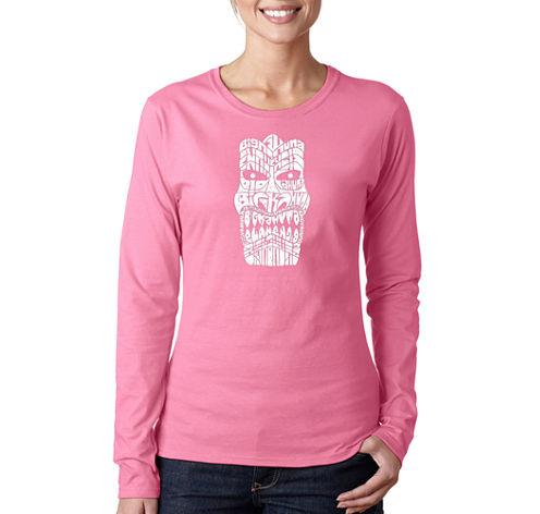 Los Angeles Pop Art Tiki - Big Kahuna Long Sleeve Graphic T-Shirt