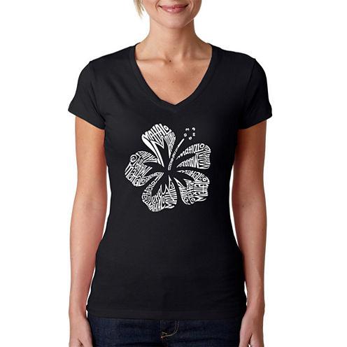 Los Angeles Pop Art Mahalo Graphic T-Shirt