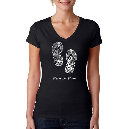 Los Angeles Pop Art Beach Bum Graphic T-Shirt