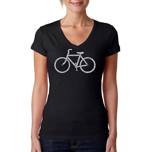 Los Angeles Pop Art Save A Planet Ride A Bike Graphic T-Shirt