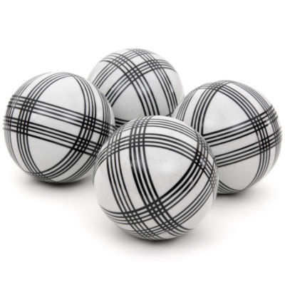 "Black And Silver Decorative Balls Fair Oriental Furniture 4"" Black Stripes Porcelain Decorative Balls 2018"