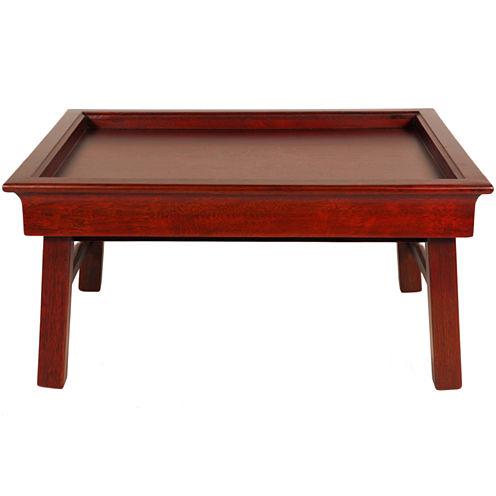 Oriental Furniture Rosewood Tea Decorative Tray