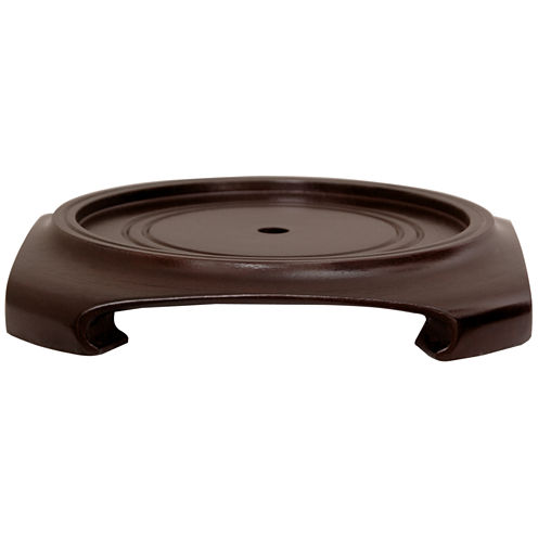 "Oriental Furniture Rosewood 3""  Base Diameter Plant Stand"