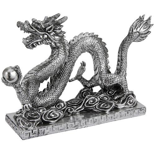 "Oriental Furniture 12"" Chinese Dragon Figurine"