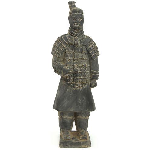 """Oriental Furniture 14"""" Xian Terra Cotta Warrior Figurine"""