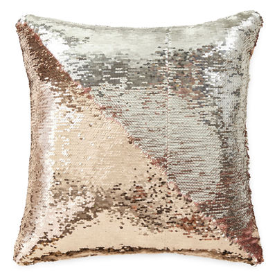 Jcpenney Home Decorative Pillow : JCPenney Home Mermaid Square Sequins Decorative Pillow - JCPenney