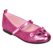 Okie Dokie®  Girls Kitty Flats - Toddler