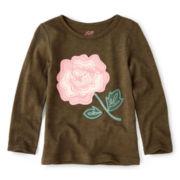Joe Fresh™ Floral Slub Tee - Girls 1t-5t