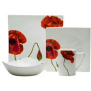 Red Vanilla Summer Sun Bone China 16-pc. Dinnerware Set