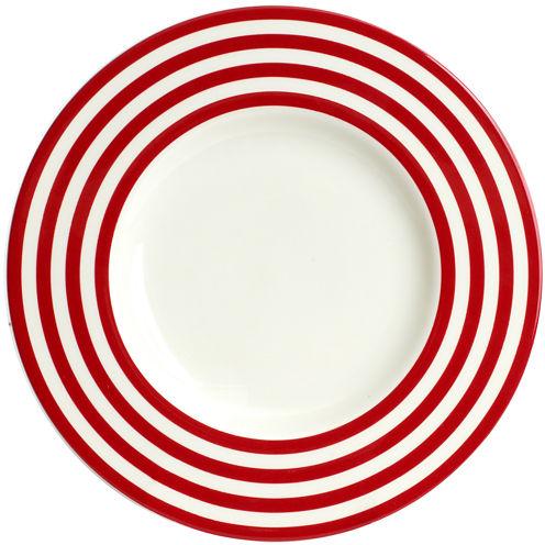 Red Vanilla Freshness Lines Salad Plate