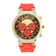 Mixit™ Womens Animal Print Dial Watch