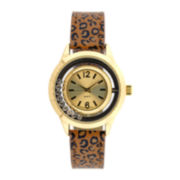 Mixit™ Womens Animal Print Watch