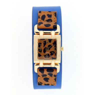 jcpenney.com | Mixit™ Womens Animal Print Square Dial Watch