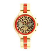 Mixit™ Womens Animal Print Bracelet Watch