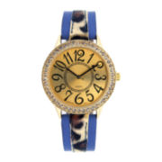 Mixit™ Womens Animal Print Strap Watch