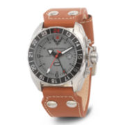 Wrist Armor® C3 Mens US Air Force Brown Leather Strap Watch