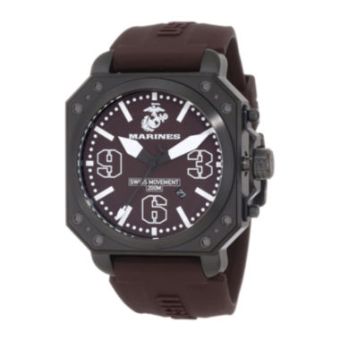 jcpenney.com | Wrist Armor® C4 Mens US Marine Corps Stainless Steel Swiss Quartz Watch