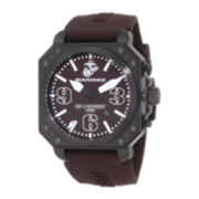 Wrist Armor® C4 Mens US Marine Corps Stainless Steel Swiss Quartz Watch