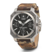 Wrist Armor® C4 Mens US Army Camo Canvas Strap Swiss Watch