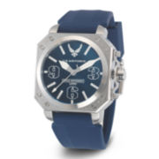 Wrist Armor® C4 Mens US Air Force Rubber Strap Swiss Watch