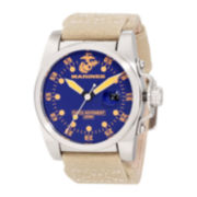 Wrist Armor® WA112 Mens US Marine Corps Canvas Watch
