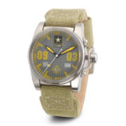 Wrist Armor® C1 Mens US Army Green Canvas Watch