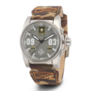 Wrist Armor® C1 Mens US Army Camo Canvas Watch