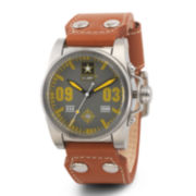 Wrist Armor® C1 Mens US Army Brown Leather Watch