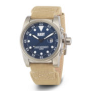 Wrist Armor® C1 Mens US Navy Beige Canvas Watch