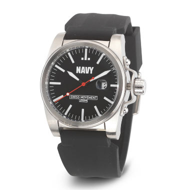 jcpenney.com | Wrist Armor® C1 Mens US Navy Black Silicone Watch