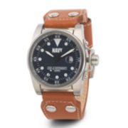 Wrist Armor® C1 Mens US Navy Brown Leather Watch