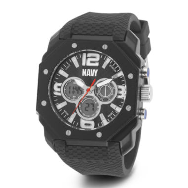 jcpenney.com | Wrist Armor® C28 Mens US Navy Black Silicone Chronograph Watch