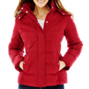 St. John's Bay® Hooded Puffer Jacket - Petite