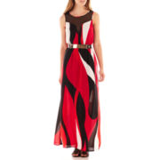 XOXO® Sleeveless Belted Maxi Dress