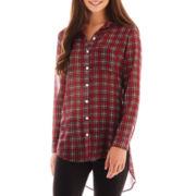 Olsenboye® Long-Sleeve Chiffon Tunic