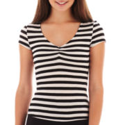 Olsenboye® Short-Sleeve Striped Tee