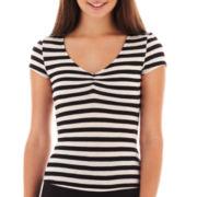 Olsenboye® Short-Sleeve Striped Tee