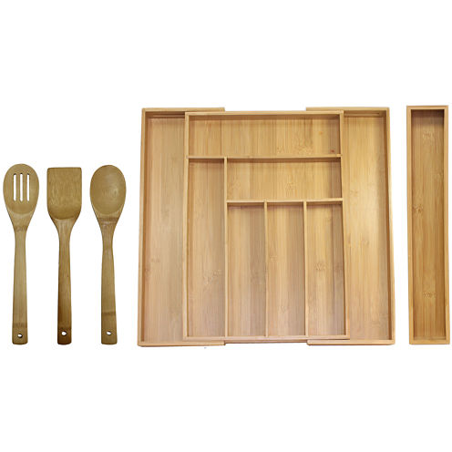 Oceanstar 5-pc. Bamboo Expandable Drawer Organizer and Tools