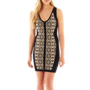 XOXO® Sleeveless Jacquard Bodycon Dress