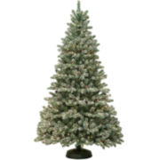 7½' Pre-Lit Kincade Clear Lights and Pinecones Christmas Tree