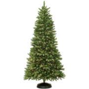 7' Pre-Lit Oakdale Clear Lights Christmas Tree