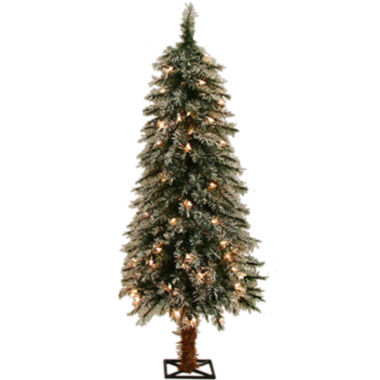 jcpenney.com | 4' Pre-Lit Alpine Clear Lights Frosted Christmas Tree