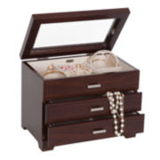 Mele & Co. Ariel Mahogany-Finish Jewelry Box